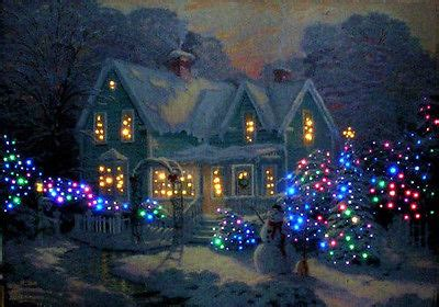 kinkade lighted pictures blessings of kinkade wall hanging