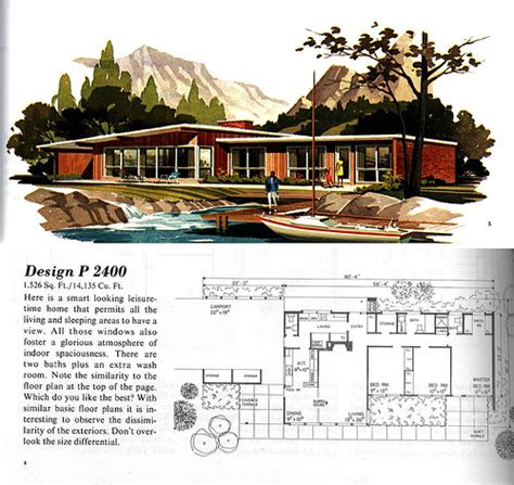 mid century modern home designs mcm houseplans flickr photo