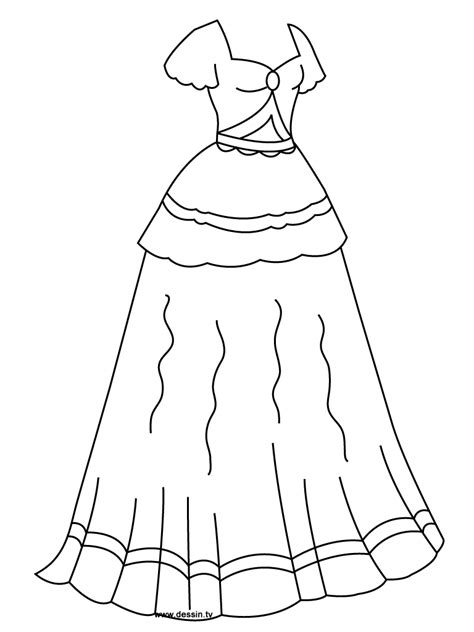Coloring Page Dress by Coloring Princess Dress