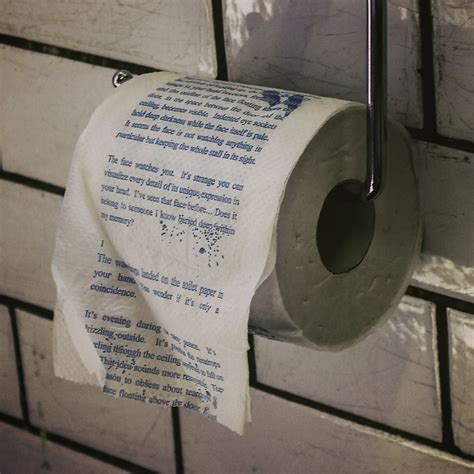 things to write on toilet paper crime the around the corner