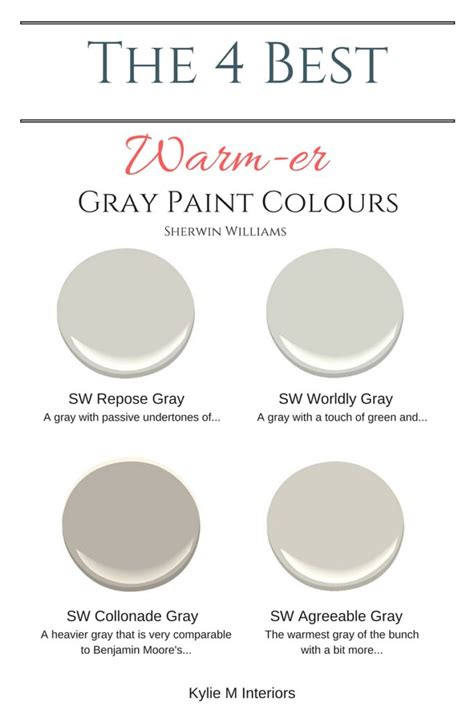 5 best gray paint colors gray paint colors gray and neutral the 4 best warm gray paint colours sherwin williams