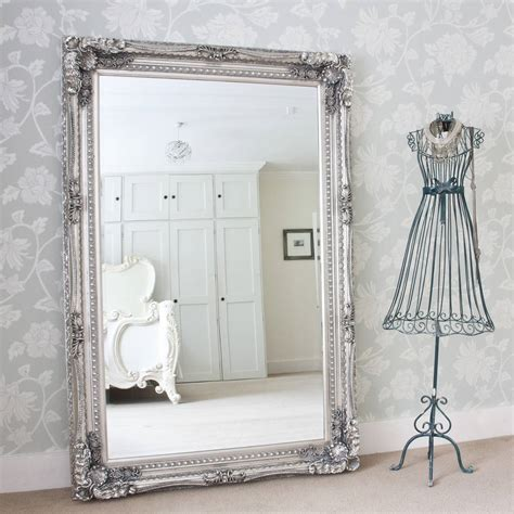 Grand silver or gold full length dressing mirror by decorative mirrors online