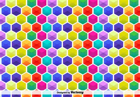 colorful pattern vector hexagon colorful pattern free vector