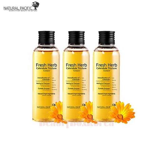 Pasific Fresh Herb Calentula Tincture Toner box korea pacific fresh herb calendula tincture toner 200ml 3ea best price