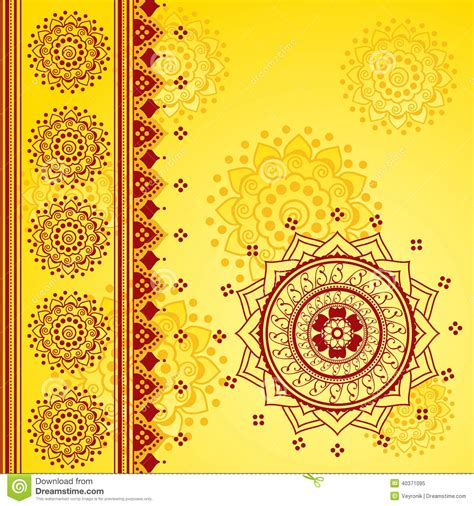 traditional designs yellow indian background stock vector illustration of