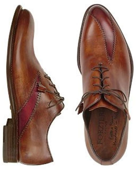 Handcrafted Italian Shoes - forzieri brown italian handcrafted leather oxford dress