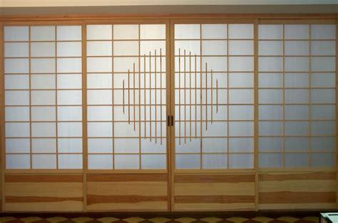 Shoji Wand by Shoji Schiebewand Kiefer Mit Kreis Ornament Und Massivholz
