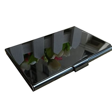 Titanium Business Card Holder from usa etechmart frosted stainless steel and black