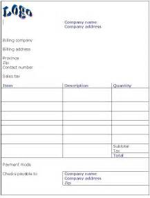 sample invoice template invoice templates