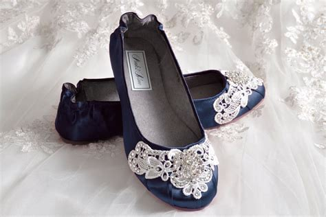 navy blue flat wedding shoes navy blue wedding shoes ballet flats 250 colors vintage