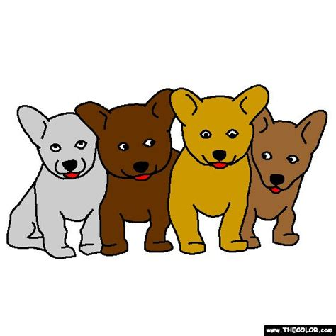 litter of puppies coloring pages 29 best health and wellness images on pinterest clean