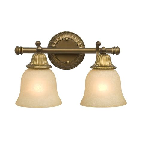 Antique Brass Bathroom Light with Shop Galaxy 2 Light Brymor Parisian Antique Brass Standard Bathroom Vanity Light At Lowes