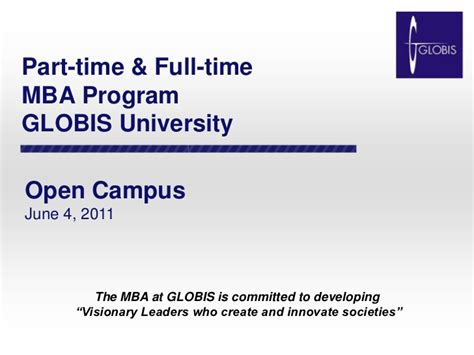 Part Time Mba In Indsearch Pune by The Globis Mba