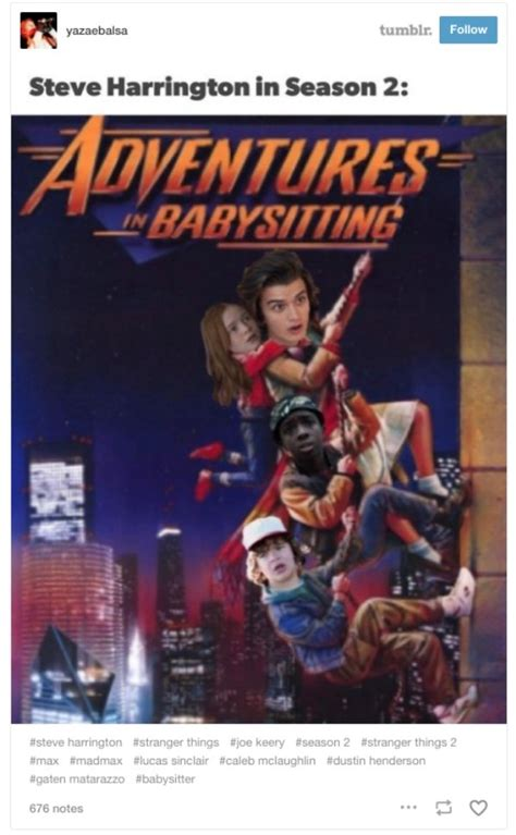 Adventures In Babysitting Meme - the best stranger things season 2 reactions tweets and