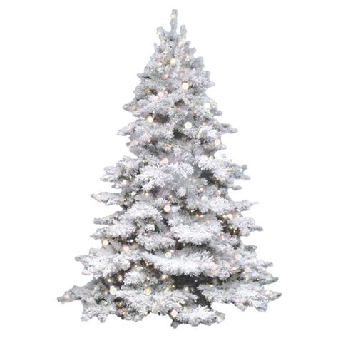 vickerman flocked alaskan 4 5 white artificial christmas