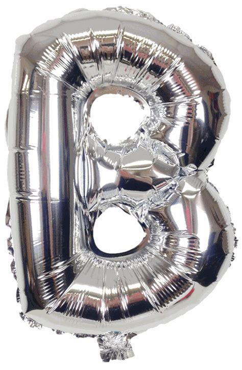 mylar letter balloons 16 quot foil mylar balloon silver letter b 1507