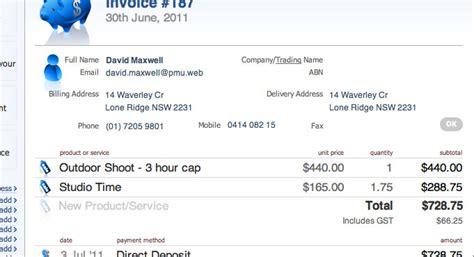 invoice template australia abn hardhost info