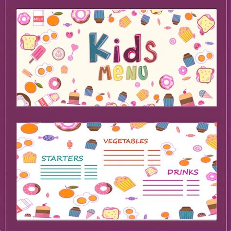 kids menu template 25 free psd ai eps vector format
