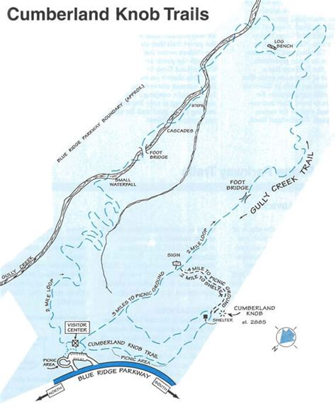 Blue Knob Trail Map by Cumberland Knob Blue Ridge Parkway Milepost 217 5