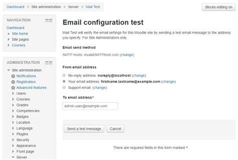 test email moodle plugins directory moodle email test