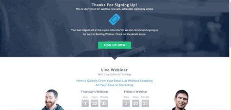 Free Landing Page Templates The Webinar Thank You Page Webinar Landing Page Template