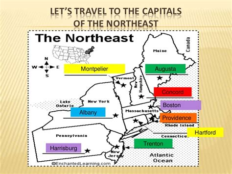 map of the northeast region states and capitals united states lesson plan