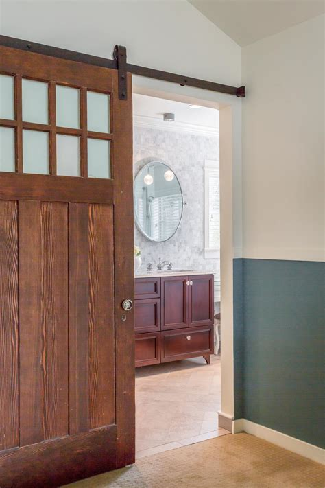 sliding barn door bathroom photos hgtv