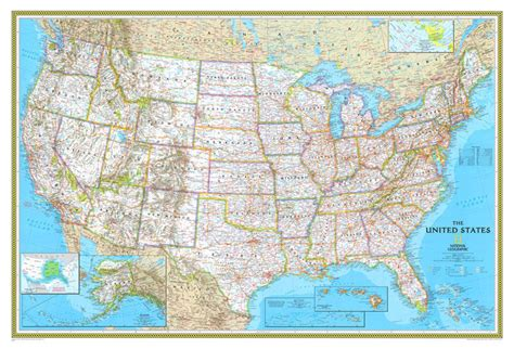usa map poster large rand mcnally style united states usa us large wall map