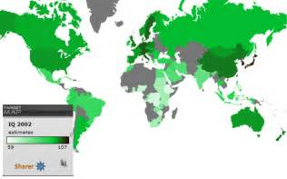 Iq Map World world map of national iq estimates by country targetmap