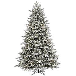 Shop ge 7 5 ft pre lit alaskan fir flocked artificial christmas tree with 600 color changing