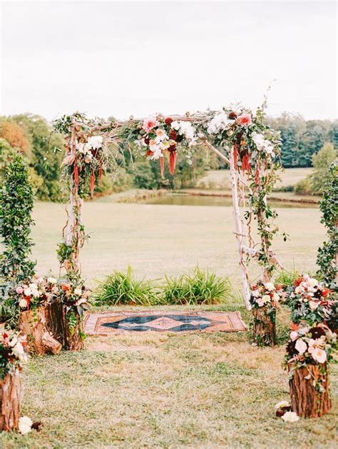 27 Fall Wedding Arches That Will Make You Say ?I Do