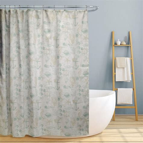 jamie curtain jamie 70 in fun nautical design canvas shower curtain ls