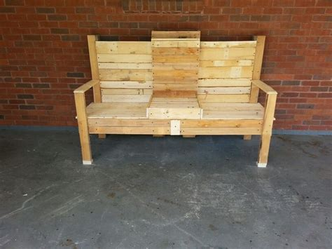 bench made out of pallets bench out of old pallets things that i made pinterest