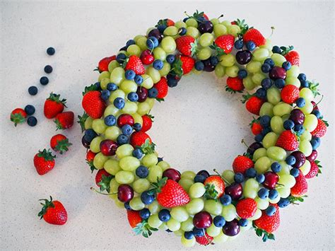 how to make christmas fruits how to make an edible fruit wreath