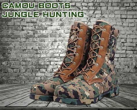 Sepatu Boot Karet Camo penjualan panas tentara militer taktis sepatu gurun untuk