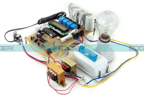 electrical circuits for projects reducing penality in industries by automatic power factor