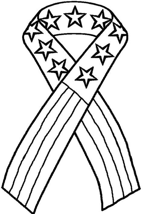 Patriotic coloring pages american flag ribbon   ColoringStar