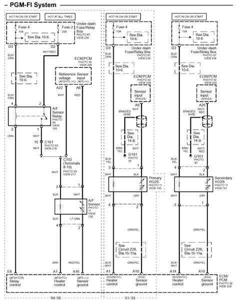 99 honda civic o2 sensor wiring diagram get free image