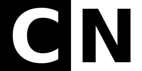 logo and white c file cn logo with white c on black background and black n
