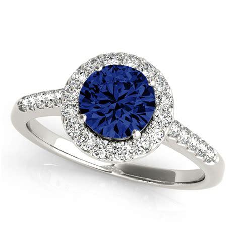 vintage blue sapphire engagement rings wedding promise