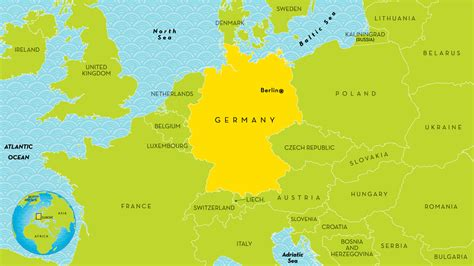 locate germany on world map germany landscape map www pixshark images