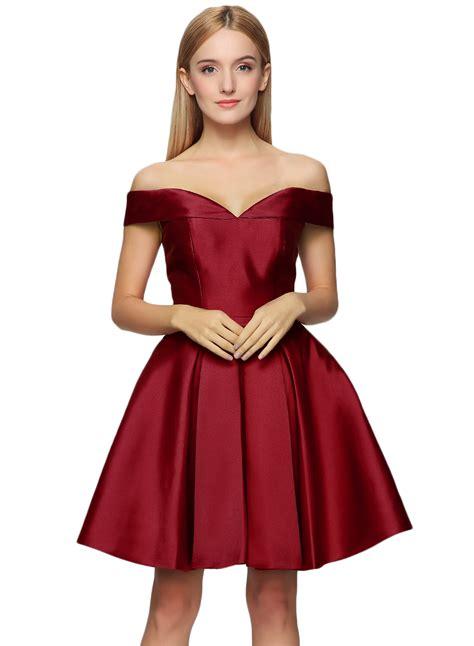 cocktail dresses dresses shoulder back lace up fit flare cocktail dress oasap