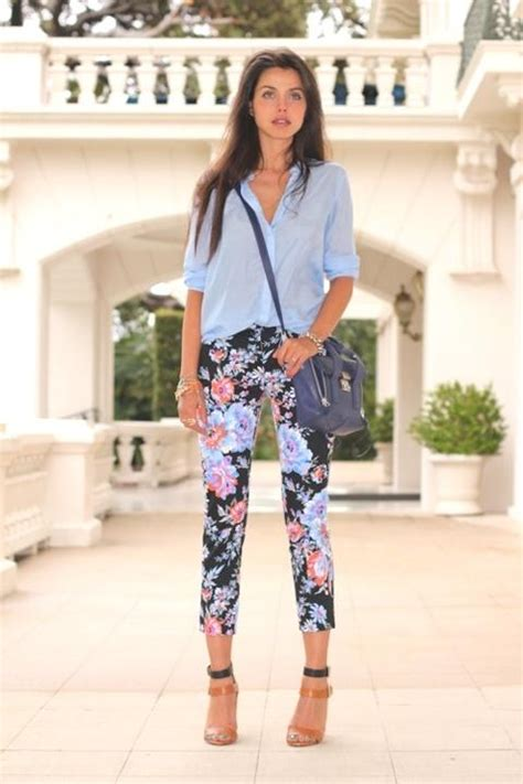 how to wear printed pantstrousers fall2013 pinterest how to wear floral pants just trendy girls