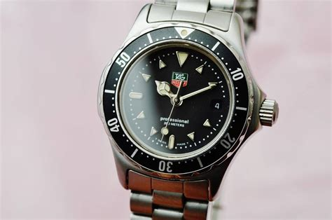 tag heuer 1500 professional stainless steel authentic