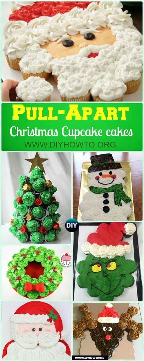 chocolate pull apart christmas tree recipe diy pull apart cupcake cake design ideas cupcakes