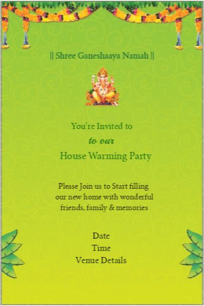 gruhapravesam invitation card templates gruhapravesam invitation cards paperinvite