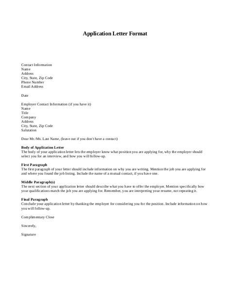 conta lettere letter of application exle