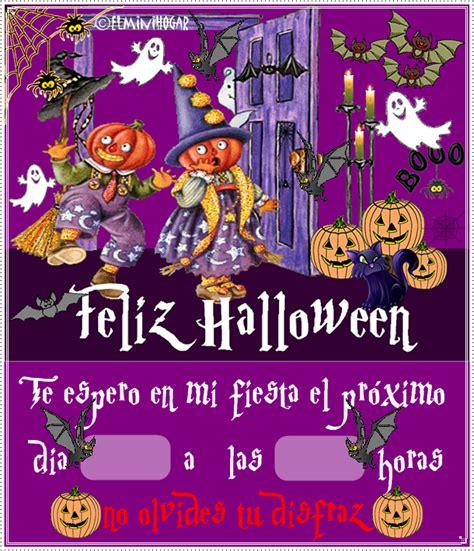 imagenes de halloween invitaciones gifs y fondos pazenlatormenta tarjetas de invitaciones a
