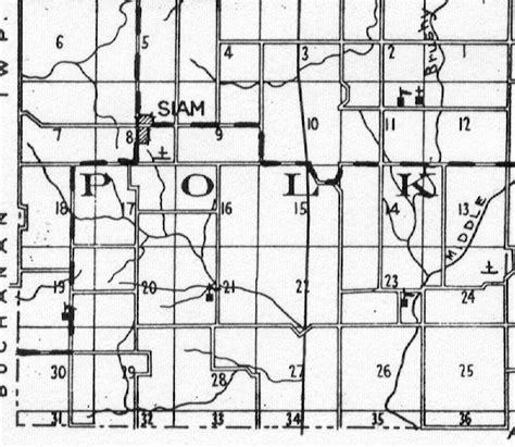 section 8 polk county map of polk twp taylor county iowa