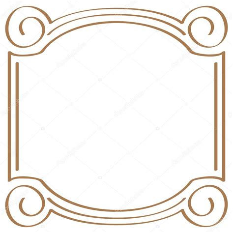 simple layout vector vector square simple frame for design stock vector